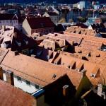 Häuserdächer, Blick vom Schlossberg in Graz Bandit Art Foto - Video, Film, Mutlimedia, Videomarketing